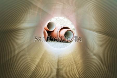 inside of plumbing tube