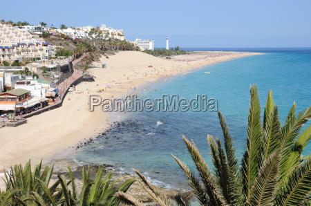 beach of morro jable fuerteventura canary