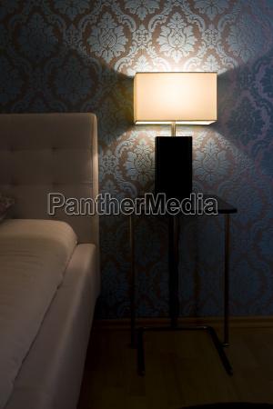 elegant bedroom at night
