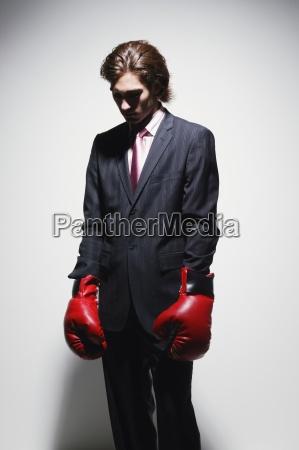 businessman put up a good fight