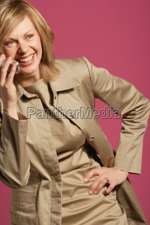 attractive woman talking on her cell