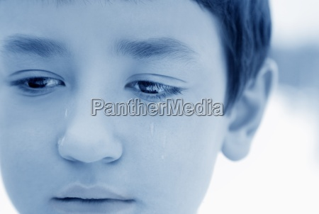 boy with tears