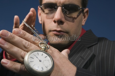 a man with time on his