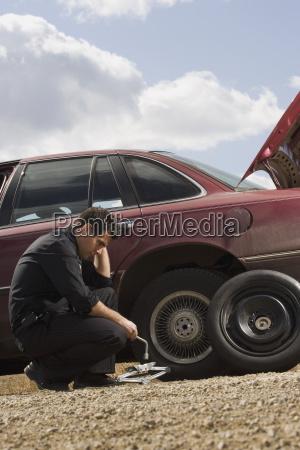 tire frustrations at roadside