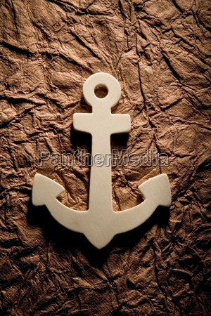 anchor on textured background