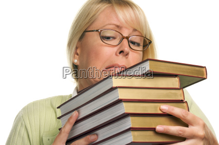 attractive, student, struggles, with, her, books - 2201271