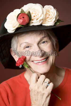senior, woman, in, a, hat, with - 2203675