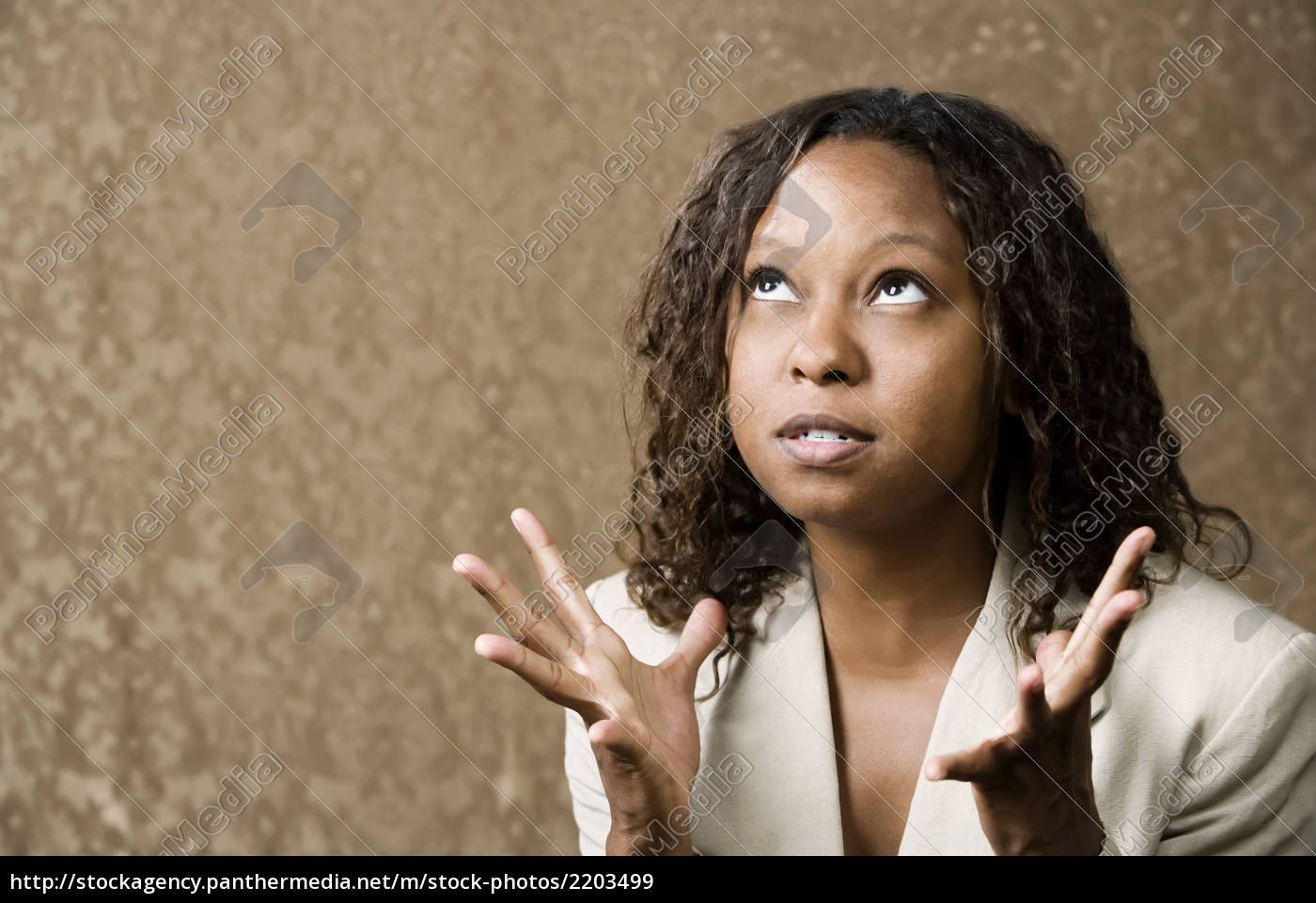 stressed, pretty, african-american, woman - 2203499