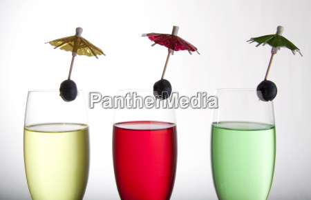 drinks and umbrellas