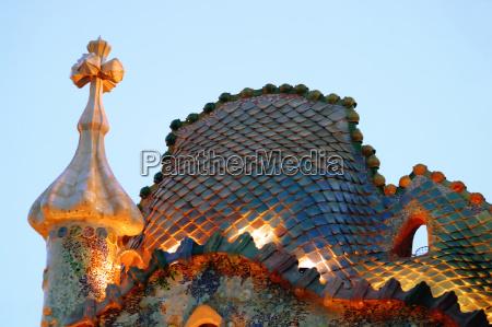 casa, batllo, , antoni, gaudi, , barcelona, , spain. - 2255981