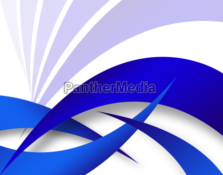 blue abstract swoosh layout