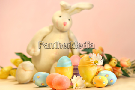 colorful, eggs, for, easter, with, bunny - 2262015