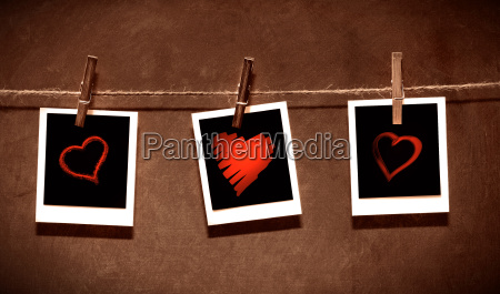photo paper attach to rope with