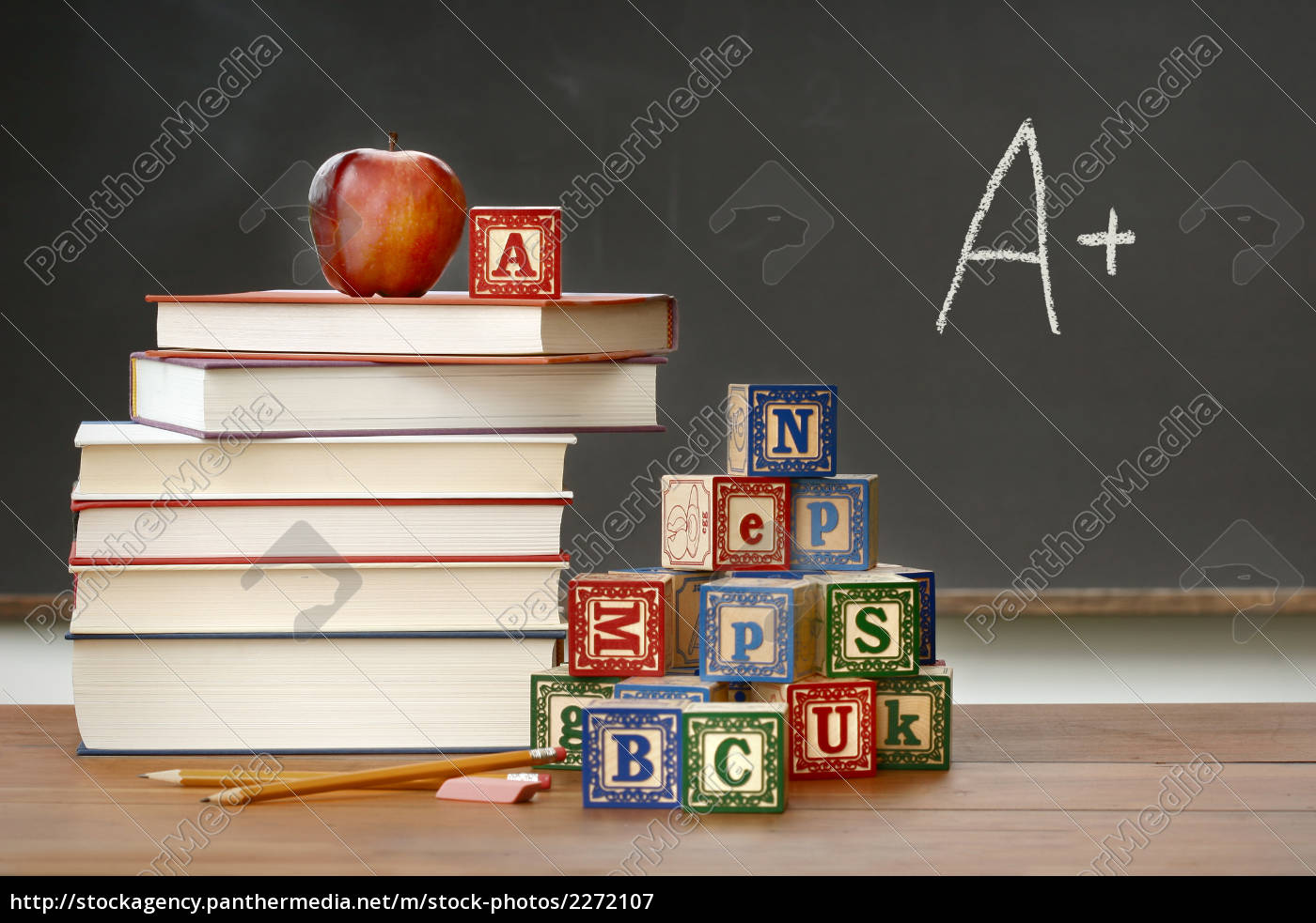 pile, of, books, with, wooden, blocks - 2272107