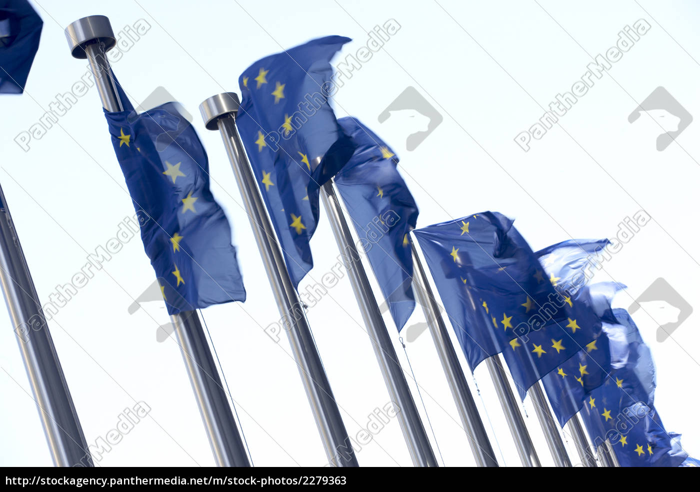 flags, flying, outside, european, commission, building - 2279363