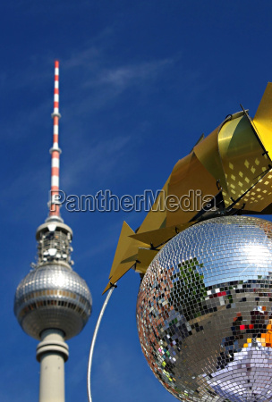 tv tower berlin with disco ball