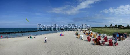 wustrow beach panorama