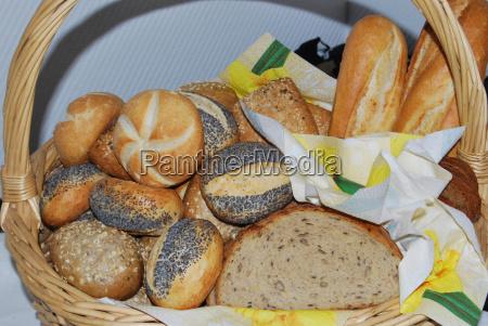 food aliment bread basket party celebration