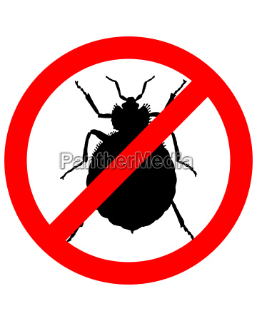 prohibition sign for bedbugs