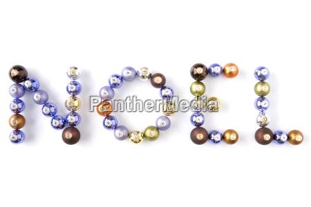 group of coloured christmas spelling noel