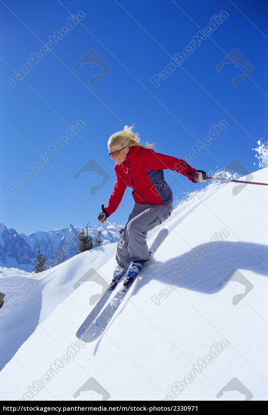 skier, coming, downhill, smiling - 2330971