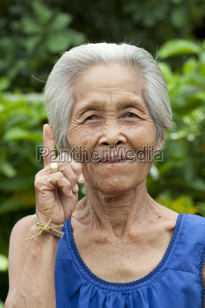 portrait old woman asia