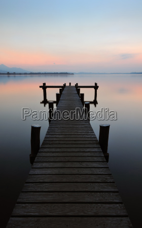 lonely jetty and the stillness of