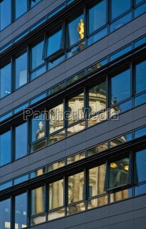 german cathedral facade reflection