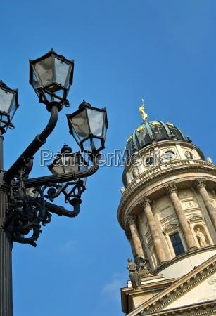 church sightseeing berlin square lantern emblem