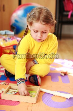 cute child playing