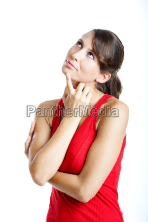 beautiful, young, woman, thinking - 2389159
