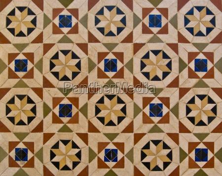 floor, with, oriental, patterns - 2393475