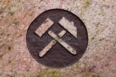 bergmann sign on a grave stone