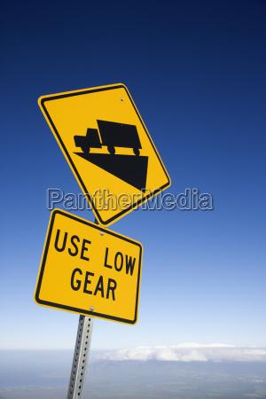 steep grade truck sign