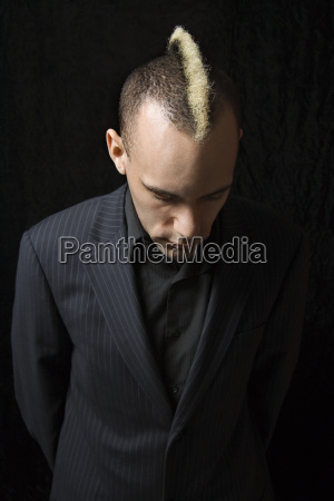 businessman with mohawk