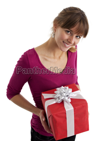 pretty young woman is holding a
