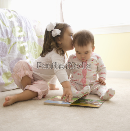 girls with book