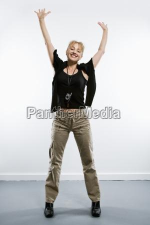 enthusiastic woman