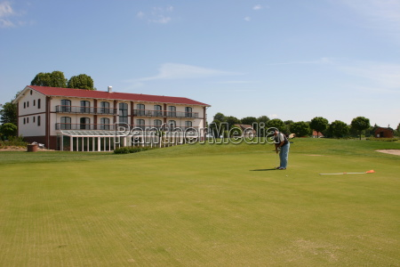 gulf golf course putt golfer mecklenburgvorpommern