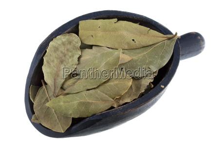 scoop of dried bay leaves
