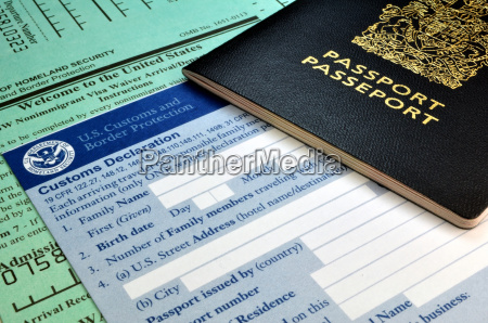 passport and usa customs forms