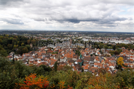 overlooking the old town of weinheim