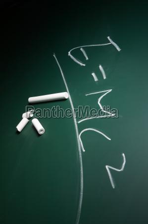 education science formula physics blackboards chalk