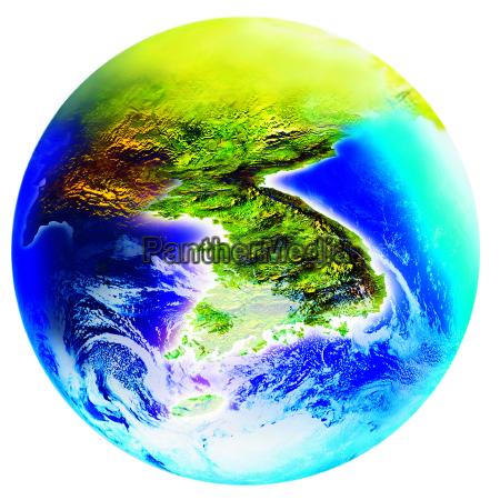 korean peninsula korea map formation earth