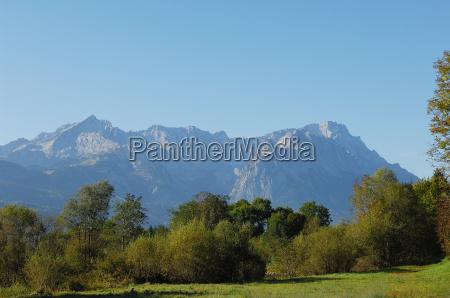wettersteingebirge from loisachauen