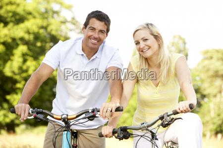 par ridning cykler i landet