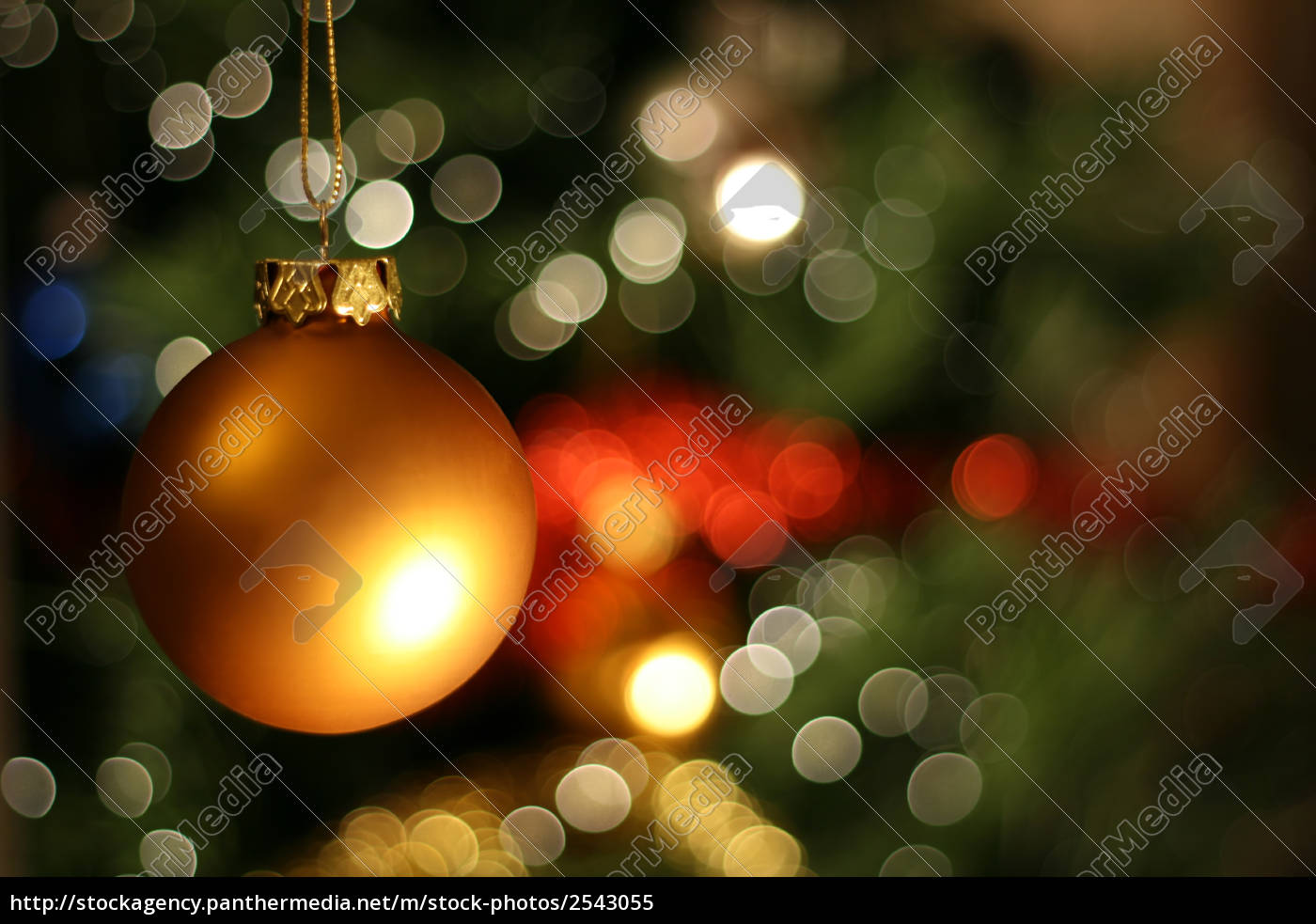 christmas, golden, ball - 2543055
