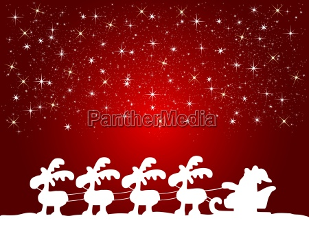 background santa claus with sleigh