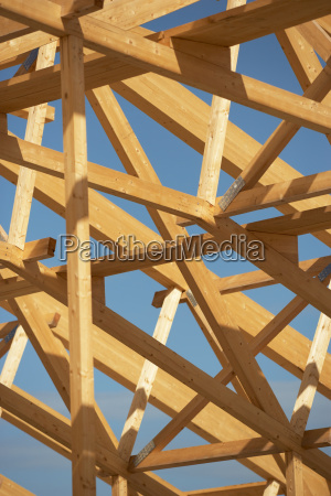 wooden roof frame