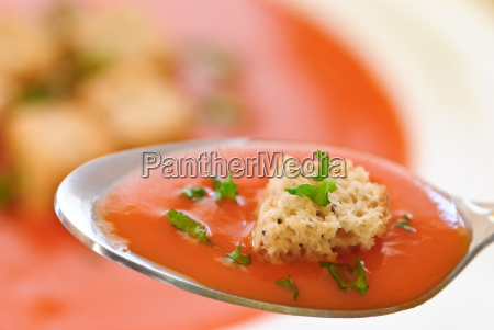 spoonful of tomato soup